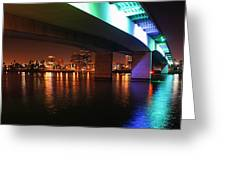 Under The Bridge In Long Beach Greeting Card