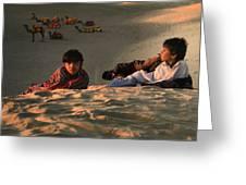 Under The Desert Sky.. Greeting Card