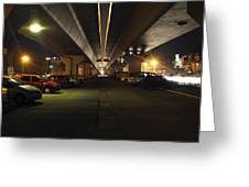 Under The Flyover  Greeting Card