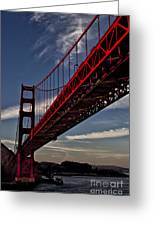 Under The Golden Gate Greeting Card