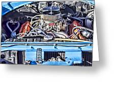 Under The Hood 2 Greeting Card