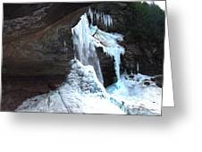 Under The Kaaterskill Falls In March 2009 Greeting Card