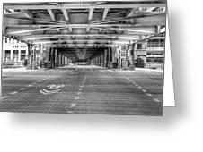 Chicago Wells Street Bridge Photo Greeting Card