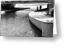 Under The Main Street Bridge Greeting Card