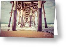 Under The Pier In Orange County California Picture Greeting Card by Paul Velgos