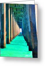 Under The Pier Too Greeting Card