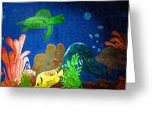 Under The Sea Mural 2 Greeting Card