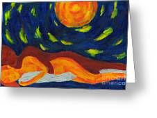 Under The Sky Greeting Card