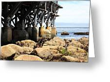 Under The Steinbeck Plaza Overlooking Monterey Bay On Monterey Cannery Row California 5d25050 Greeting Card