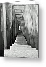 Under The The Pier Greeting Card