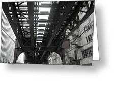 Under The Tracks Greeting Card