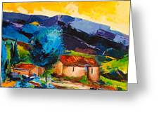 Under The Tuscan Sky Greeting Card by Elise Palmigiani