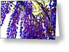 Under The Wisteria Greeting Card