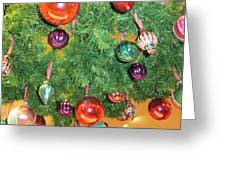 Under The Wreath Greeting Card