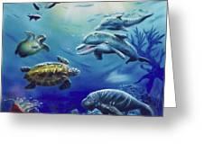 Under Water Antics Greeting Card