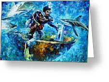 Under Water Greeting Card by Leonid Afremov