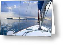 Under Way Greeting Card
