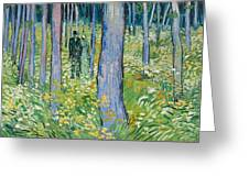 Undergrowth With Two Figures Greeting Card