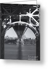 Underneath The George Washington Bridge Iv Greeting Card