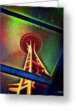 Underneath The Space Needle Greeting Card