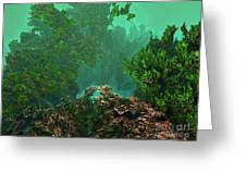 Underwater 8 Greeting Card by Bernard MICHEL