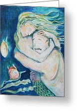 Underwater Embrace Greeting Card by Ellen Howell