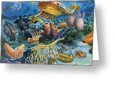 Underwater Paleozoic Landscape Greeting Card