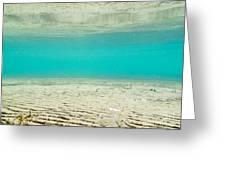 Underwater Sand Beach Greeting Card