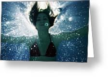 Underwater Self-portrait Greeting Card