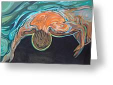 Underwater Swimmer. Part II     Greeting Card