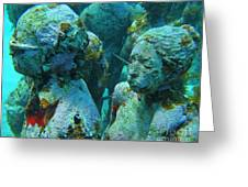 Underwater Tourists Greeting Card