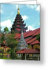 Unfinished Temple In Tachilek-burma Greeting Card