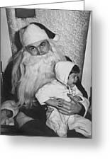 Unhappy Santa Claus Greeting Card