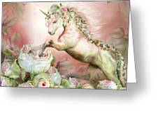 Unicorn And A Rose Greeting Card