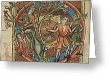 Unicorn Enticed By A Virgin Greeting Card