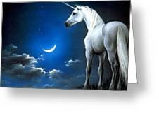 Unicorn Pegasu Greeting Card