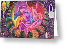 Unicornio Dorado Greeting Card