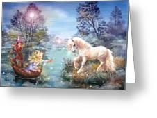 Unicorns Lake Greeting Card