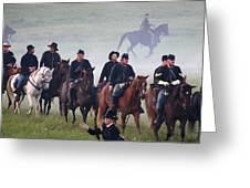 Union Cavalry On The March - Perryville Ky Greeting Card