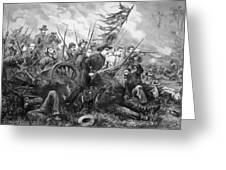 Union Charge At The Battle Of Gettysburg Greeting Card