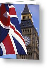 Union Flag And Big Ben Greeting Card