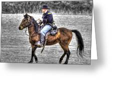 Union Horse Officer Greeting Card