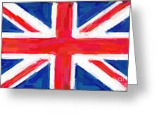 Union Jack Flag Painting Greeting Card