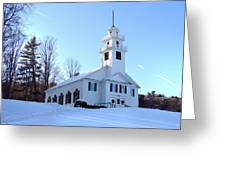 Union Meeting House In West Newbury Vermont Greeting Card