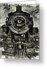 Union Pacific Locomotive 6051 Greeting Card