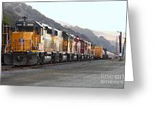 Union Pacific Locomotive Trains . 7d10563 Greeting Card