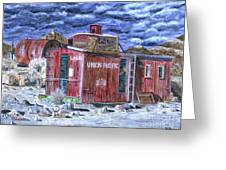 Union Pacific Train Car Painting Greeting Card