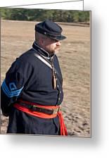 Union Soldier At Brooksville Raid Greeting Card