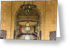 Union Station Chandelier Greeting Card