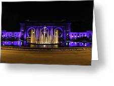 Union Station In Blue Greeting Card